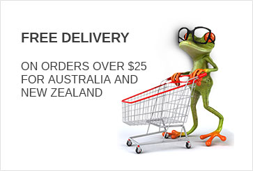 FREE DELIVERY ON ORDERS OVER $25 for AUSTRALIA and NEW ZEALAND