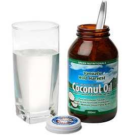 Coconut oil solid form
