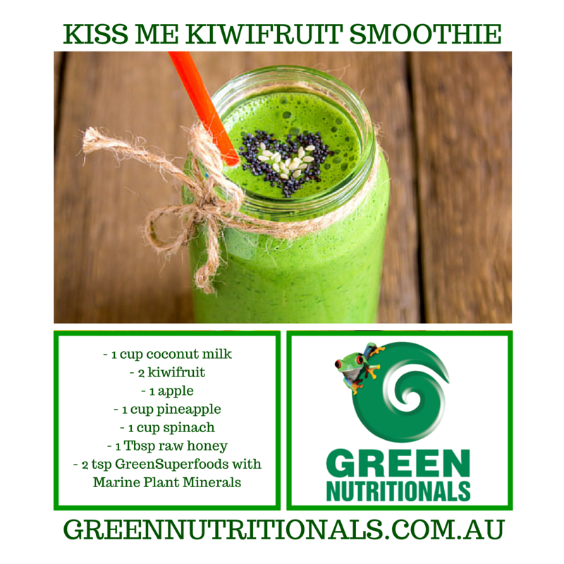 Kiss me Kiwi fruit smoothie recipe