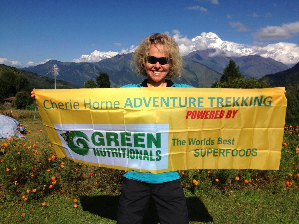Cherie guiding on the Annapurna Circuit Trek 2016.