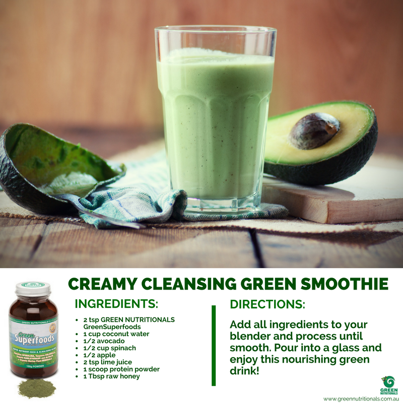 Creamy Cleansing Green Smoothie